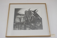 Artist: Kathleen Kase Burk Pencil Drawing on Paper 35.25x32in $800